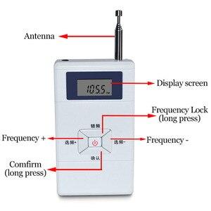 Image 4 - JINSERTA Mini FM Transmitter Persönlichen Radio Station Stereo Audio Converter 70MHz 108MHz für Tragbare Empfänger