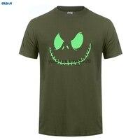 GILDAN Top Quality T Shirts O Neck O Neck Men Smiling Jack Spooky Scary Halloween Fancy