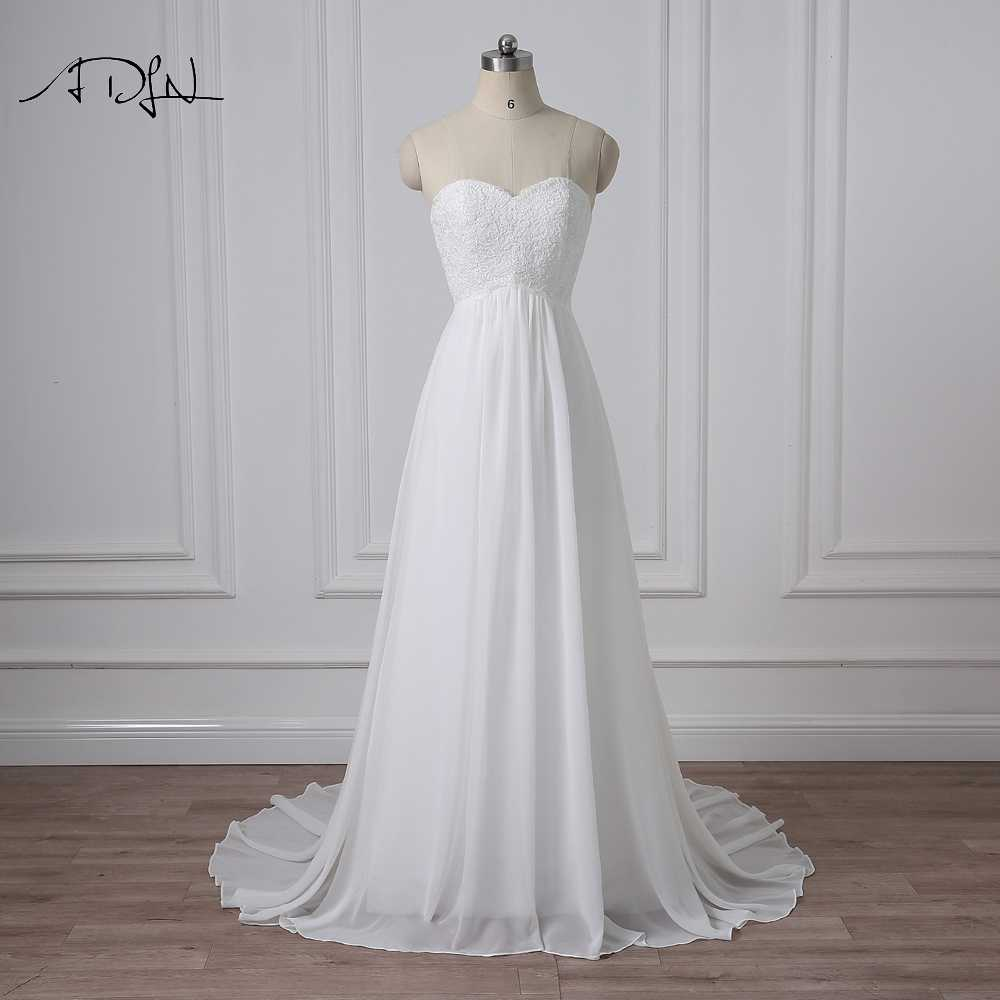 Adln Simple Empire Chiffon Wedding Dresses Real Photos Sweetheart Plus Size Boho Bridal Gowns Robe De Mariage Robe De Mariage China Bridal Gownswedding Dress Real Aliexpress