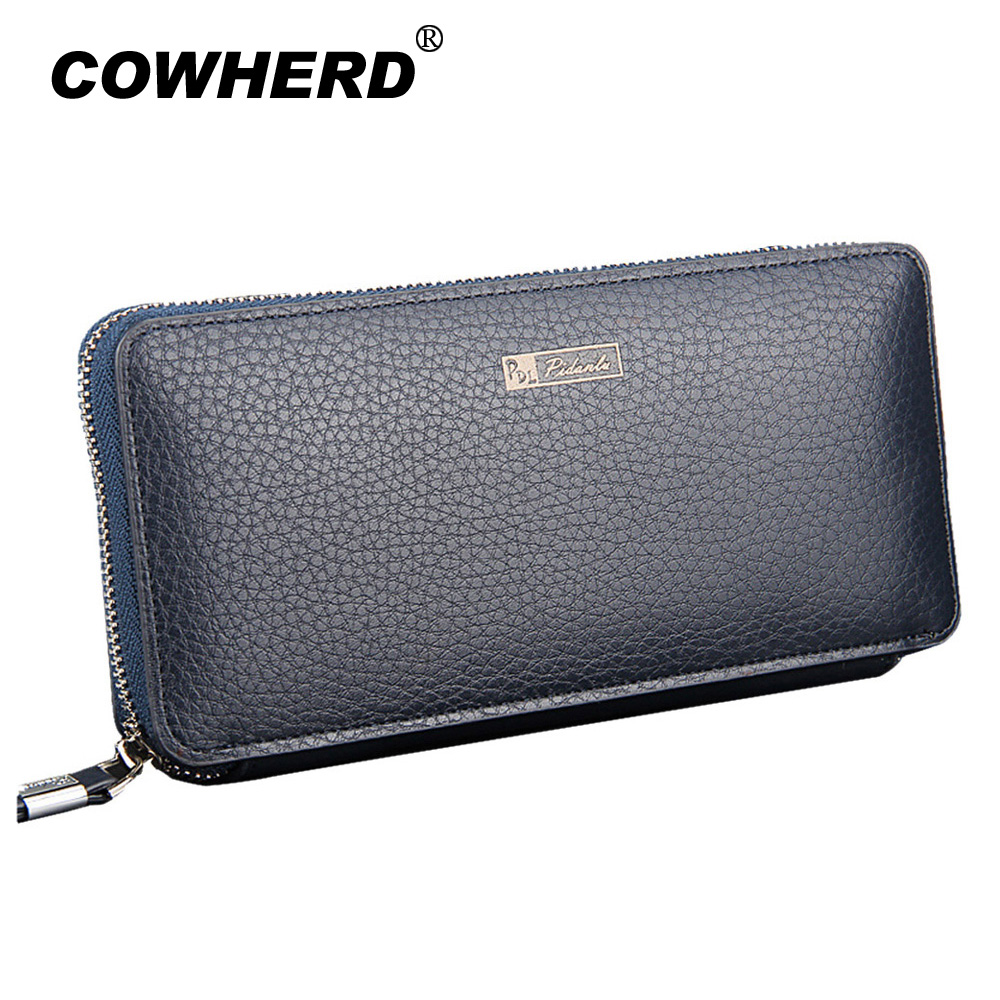 2018 Hot Men's Wallet Long Zipper Coin Purse PU Leather Purse Business Male Clutch Carteira Phone Bag Masculina men's hand bag