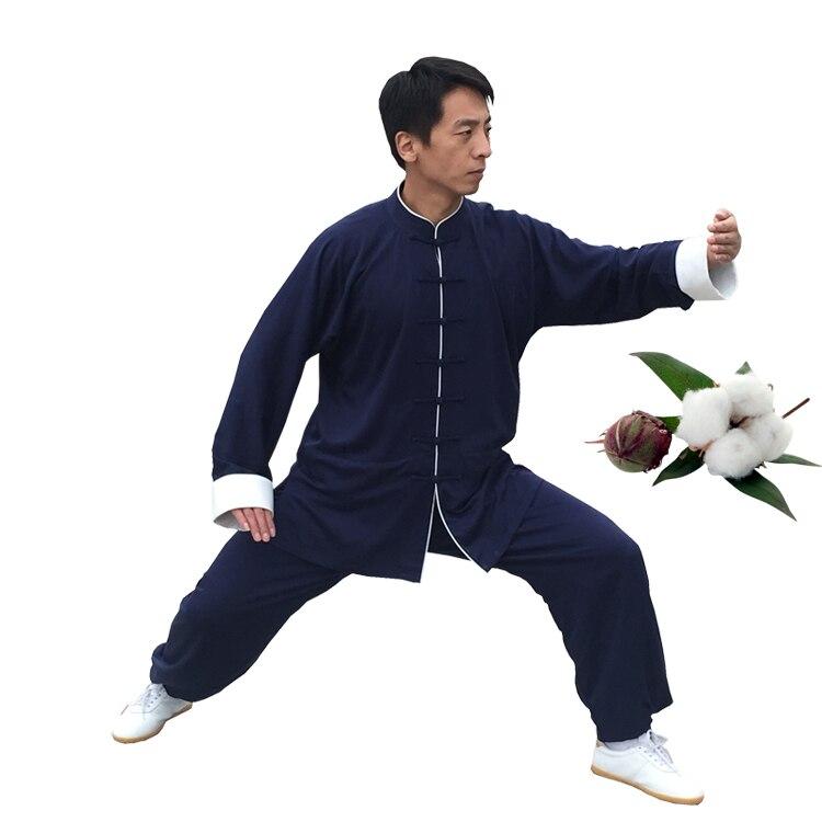 Новинка 2017 года унисекс китайской традиционной Taichi Костюмы хлопок белье Боевые искусства Костюмы утренняя зарядка униформа