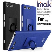 Imak Cowboy Sand Frosted Case Cover For Sony Xperia XZ Premium Matte Anti Fingerprint Shell Finger