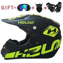 1 комплект moto rcycle moto cross внедорожный шлем с Goggle Маска перчатки ATV Dirt Bike гоночный шлем для мужчин/женщин гоночный шлем moto Casco