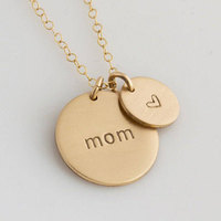 Personalised Gold Double Disc Charms With Names Custom Engraved Necklaces Pendants For Women Men Jewelry Mom