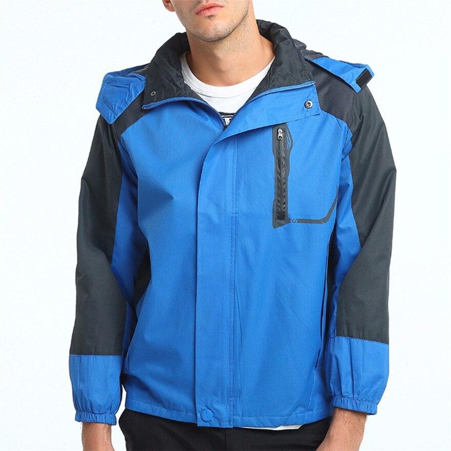 2018 Men's casual Waterproof Jacket Raincoat Sportswear Outdoor Hooded Clothing for outdoor activities #0725