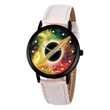 Creative Unique Solar Astronomy Space System Watch Planets Unisex Classy Casual Quartz Leather Strap Analog Watches Montre Femme