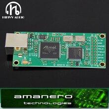 Amanero decodificador USB HiFi Combo384, tarjeta USB a interfaz Digital I2S, amplificador usb, placa DAC 100% Original