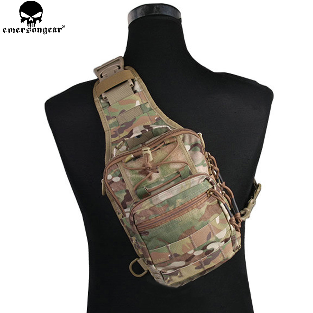 EMERSONGEAR Tactical EDC Cordura Bag Military Sport Rover Sling Bag Chest Bag for Camping Hiking Trekking