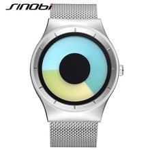 SINOBI Women's Fashion Steel Watches Women Females Antique Geneva Quartz-watch Ladies Brands Wristwatch Relojes Mujer saat J79