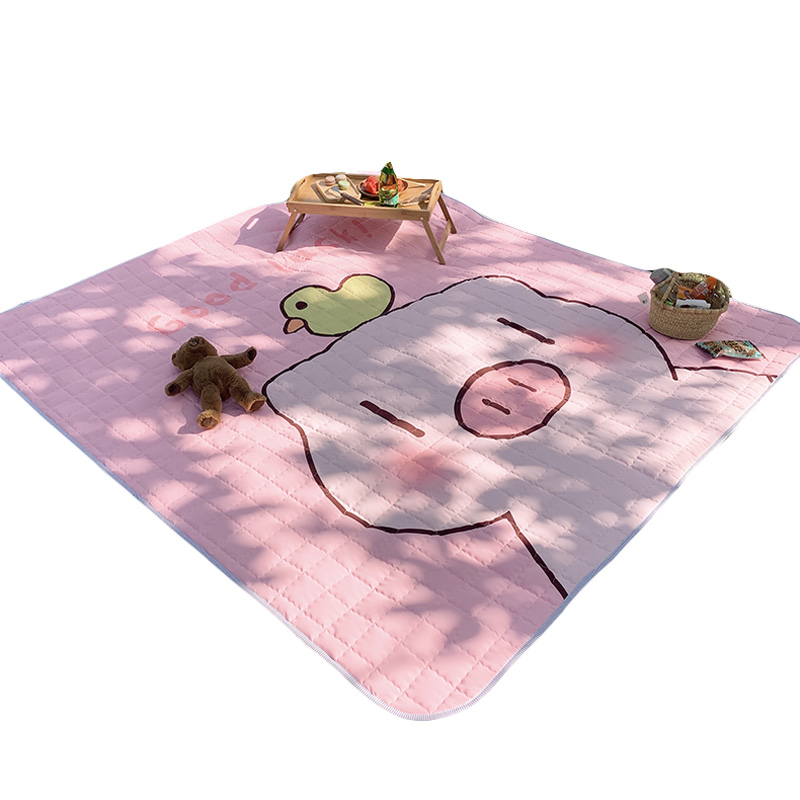 Pink pig 1.7m*2m style cushion Bedroom Carpet Outdoor thickening mat Picnic mat Lawn cloth Spring tour mat tent Beach WaterproofPink pig 1.7m*2m style cushion Bedroom Carpet Outdoor thickening mat Picnic mat Lawn cloth Spring tour mat tent Beach Waterproof