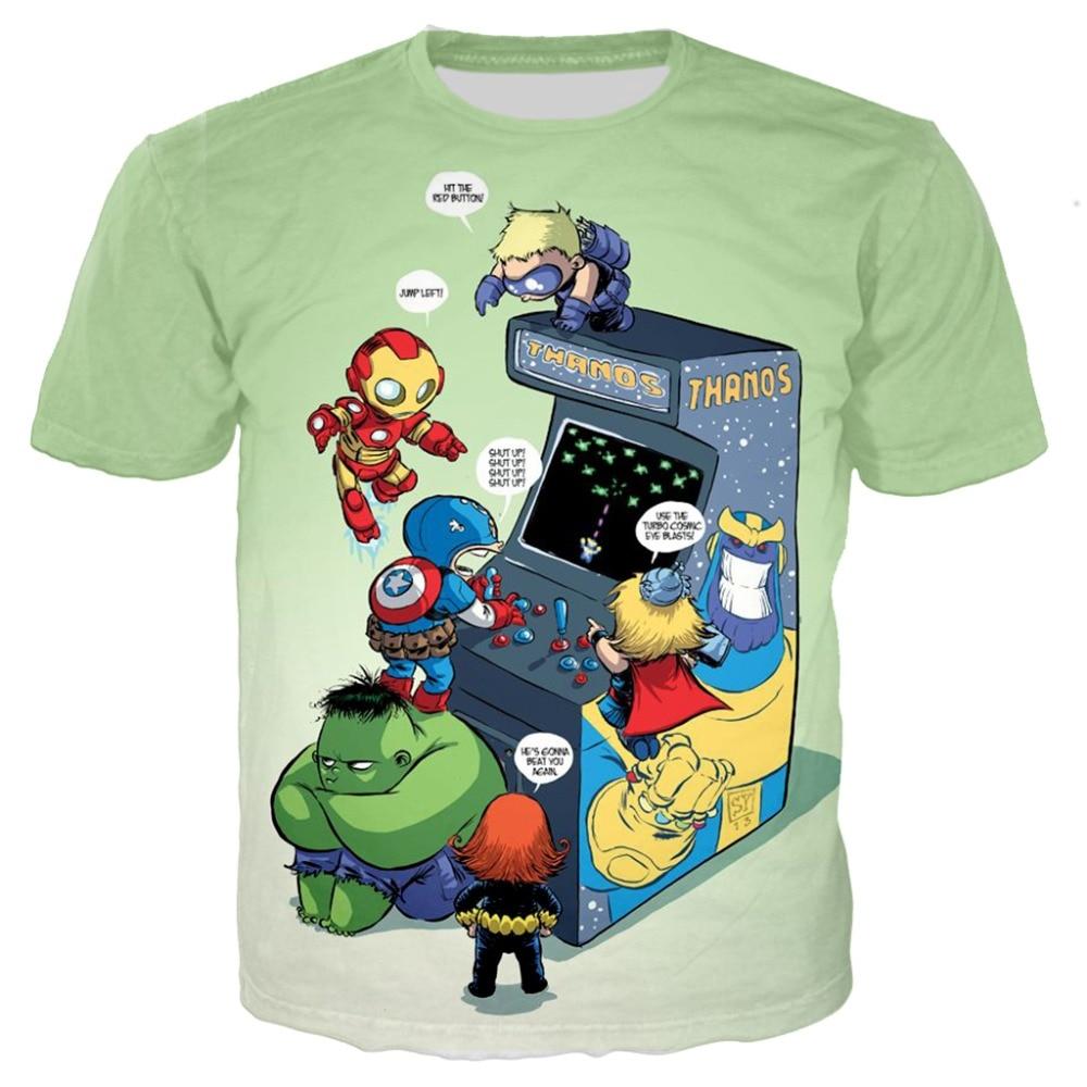 8c5bd704 baby boy cartoon tees Marvel kids 3d printed tshirts Avengers 4 ironman  Thanos Hulk cosplay t