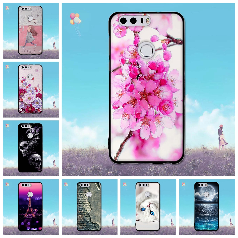For Huawei Honor 8 Case Thin Soft TPU 5.2 inch Honor 8 Phone Cases 3D Painting Skin Back Cover for Huawei Honor 8 Silicone Shell