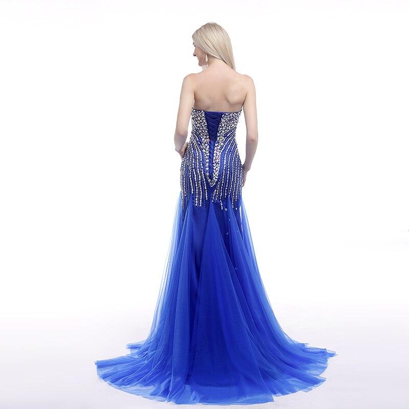Forevergracedress Real Picture Blue Prom Klänning Ny Style - Särskilda tillfällen klänningar - Foto 2