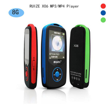 2016 Новый Оригинальный RUIZU X06 Bluetooth Спорта MP3 плеера 8 ГБ с 1.8 Дюймовым Экраном 100 часов высокого качества lossless Рекордер FM