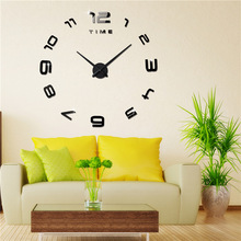 M.Sparkling wall clock decorative living bedroom large self adhesive electronic mirror creative home decoration