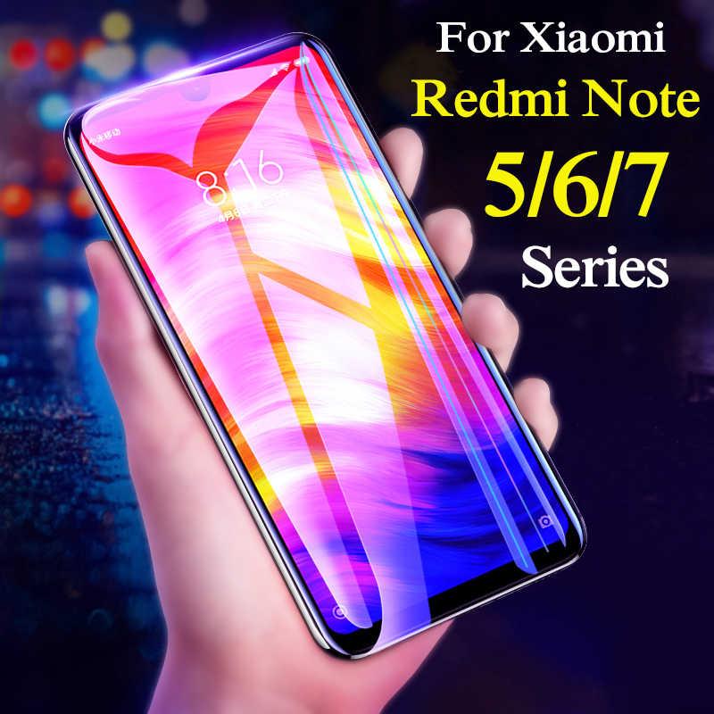 Verre pour xiaomi redmi note 5 6 pro 7 4x4 5a verre de protection sur ksiomi xiomi xaomi xiaomei redme note5 note7 couverture complète