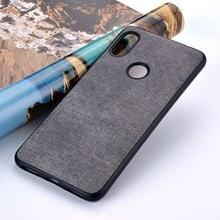 Per il caso di Xiaomi Redmi Nota 4 4x5 5a 6 7 8 pro plus prime pocophone f1 Tessuto di Lusso panno di Cuoio della cassa della pelle della copertura del silicone