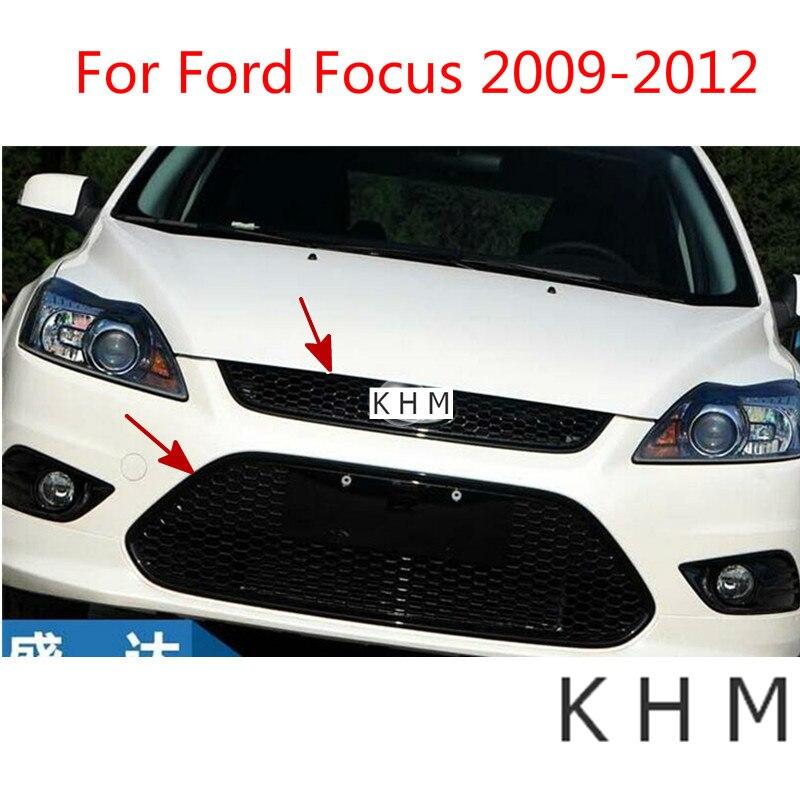 Laque en nid d'abeille ABS qui cuit le gril de course avant haut et bas pour Ford Focus 2009-2012