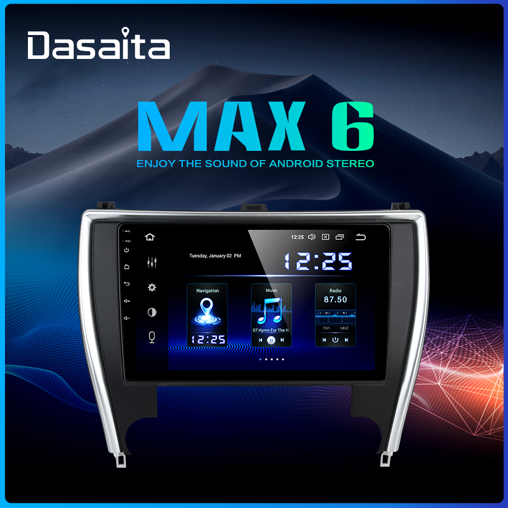 """Clearance Dasaita 10.2"""" Car Radio 1 Din Android 9.0 for Toyota Camry US Version 2015 2016 2017 Bluetooth USB 64GB ROM 0"""
