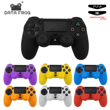 Data Frog Soft Silicone Gel Rubber Case Cover For SONY Playstation 4 PS4 Controller Protection Case