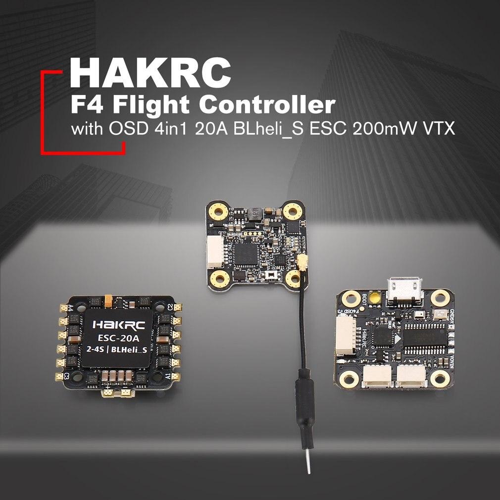 HAKRC F4 Полет контроллер башня с Betaflight OSD BEC 4in1 20A BLheli_S ESC 200 mW VTX для RC гоночный Quadcopter Дрон