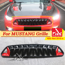 Fits For Ford Mustang grill grille ABS Red & balck 1:1 Replacement For Mustang Front Bumper Kidney Racing Grills Car Styling 18+ цена