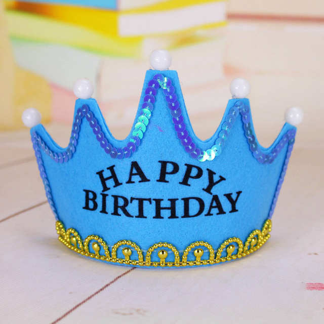 Placeholder Birthday Cake Candles Luminous Light Crown Hat Adult Children Party Dress Up Non Woven Fabrics