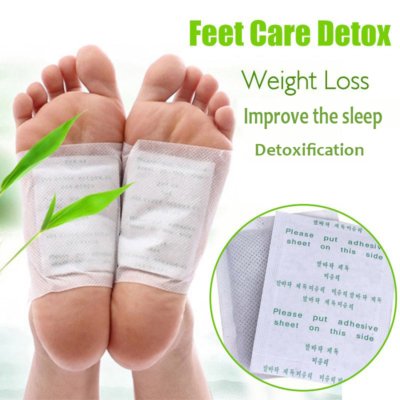 400PCS=200packs Kinoki Detox Foot Patch Bamboo Pads Patches With Adhersive Foot Care Tool Improve Sleep Slimming Foot Sticker