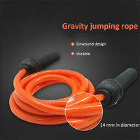 Weight bearing gravity exercise rope skipping thick weight aerobic exercise rope skipping length adjustable fitness equipment