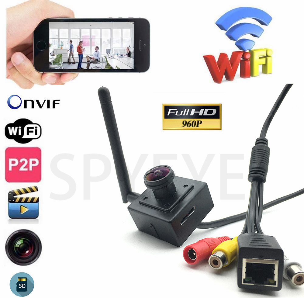 Mini Security HD 960P Wireless IP Camera Audio input&Output Wifi CCTV Network SD Card Support Android iPhone P2P CamHi View