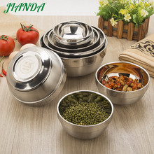 ФОТО 304 Stainless Steel  Insulation Bowl for Children Lunch Box Thermos  Food Containers Soup Bowl Food Container Rice Bowl