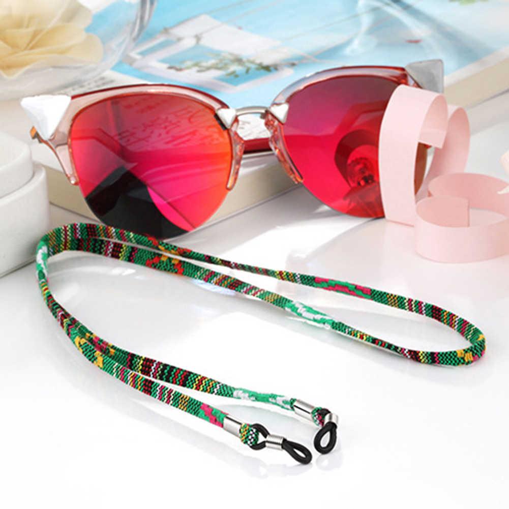 Pratik gözlük güneş gözlüğü pamuk boyun dize kordon tutucu askısı gözlük kordon tutucu High-End etnik gözlük zinciri