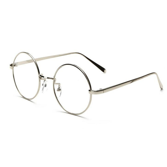 eb85c9206 Hindfield Women Men Metal Frame Round Glasses Frame Clear Lens Eyeglasses  Unisex Eyewear Vintage Spectacles Glasses