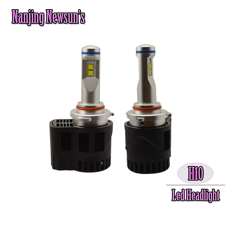 Car Headlight Bulb H10 9145 Led Replacement Bulbs 55W 6000K White 5200Lm High Power Auto Headlamp Motorcycle Driving Lamp