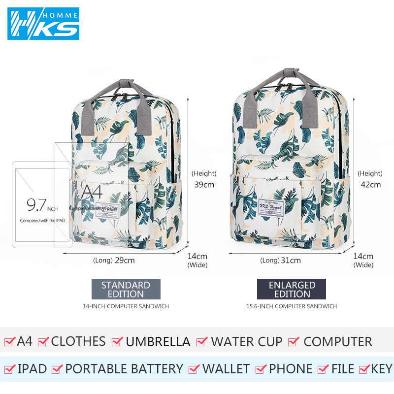 Lucu Kanvas Fashion Ransel Wanita Ransel Desain untuk Anak Perempuan Leisure Perjalanan Sekolah Kepribadian Sederhana Ransel Laptop