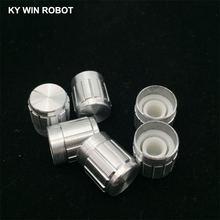 5 шт 15*17 мм белый металлический 6 накатанный вал потенциометр