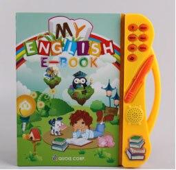 Сенсорный экран чтение книги Многофункциональный английский E-Book ЖЖ машина для дети учатся с Музыка слова номер Цвет когнитивных