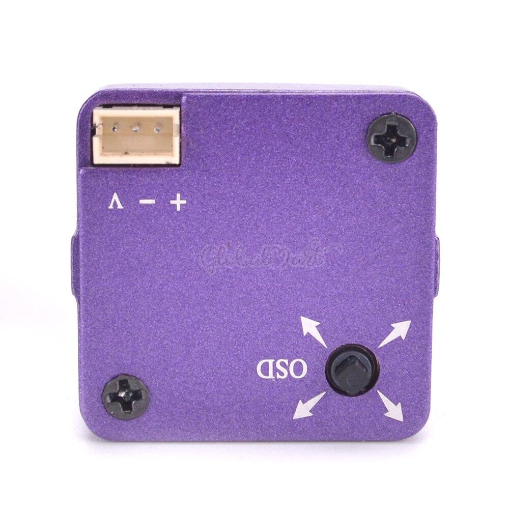 800TVL HD 12.7 SUPER HAD II CCD Mini Camera 2.5mm Lens With OSD Button PALNTSC Purple For RC Drone Quadcopter Models (3)