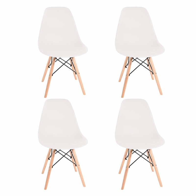 Silla de madera PARA CENA en existencias en España, conjunto moderno de comedor nórdico, silla de mesa, diseño para el hogar y la Oficina, en blanco y gris, 1-2 días de entrega