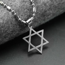 Star of David Hip Hop Necklace Jewish Symbol Pendant Stars & For jewelry Dropshipping