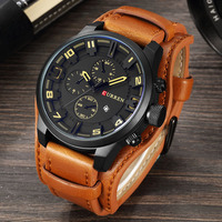 CURREN Men Military Sport Quartz Watches Mens Brand Luxury Leather Waterproof Male Wristwatch Relogio Masculino Dropshipping