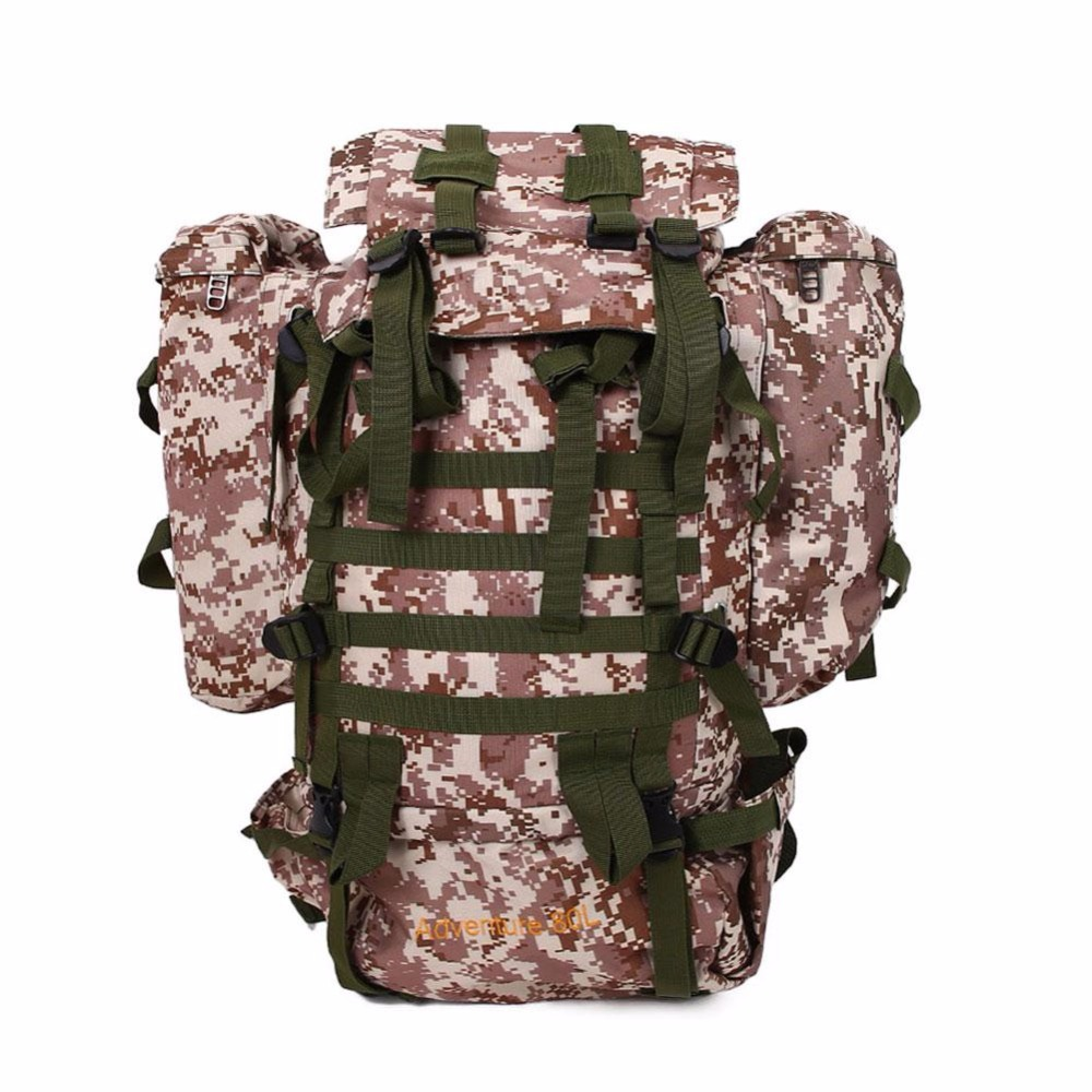 cbc5148a9c Men 80L Camouflage Waterproof hiking camping Bag Pouch Cycling Bike bags  unisex Camouflag backpacks for Travel Hike Climbing bag
