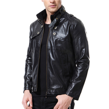 2018 Winter Fashion PU Leather Jacket Men Black Brown Solid Mens Motorcycle Leather Jackets Slim Fit Jacket Male veste homme цена