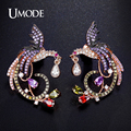 UMODE Brand Unique New Arrival Phoenix Stud Earrings for Women Top Quality Rose Gold Plated Multi CZ Jewelry Wedding UE0194