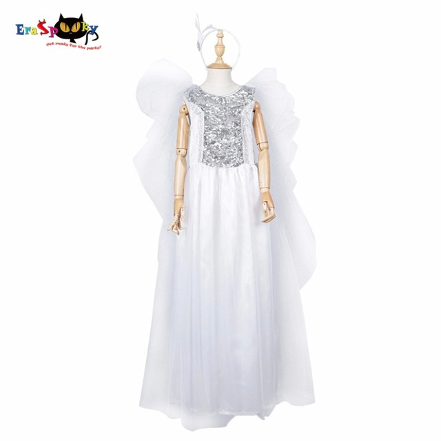 50b4a456ef0 Robe de princesse filles Costume de noël pour enfants ailes d ange robe  Halloween Cosplay