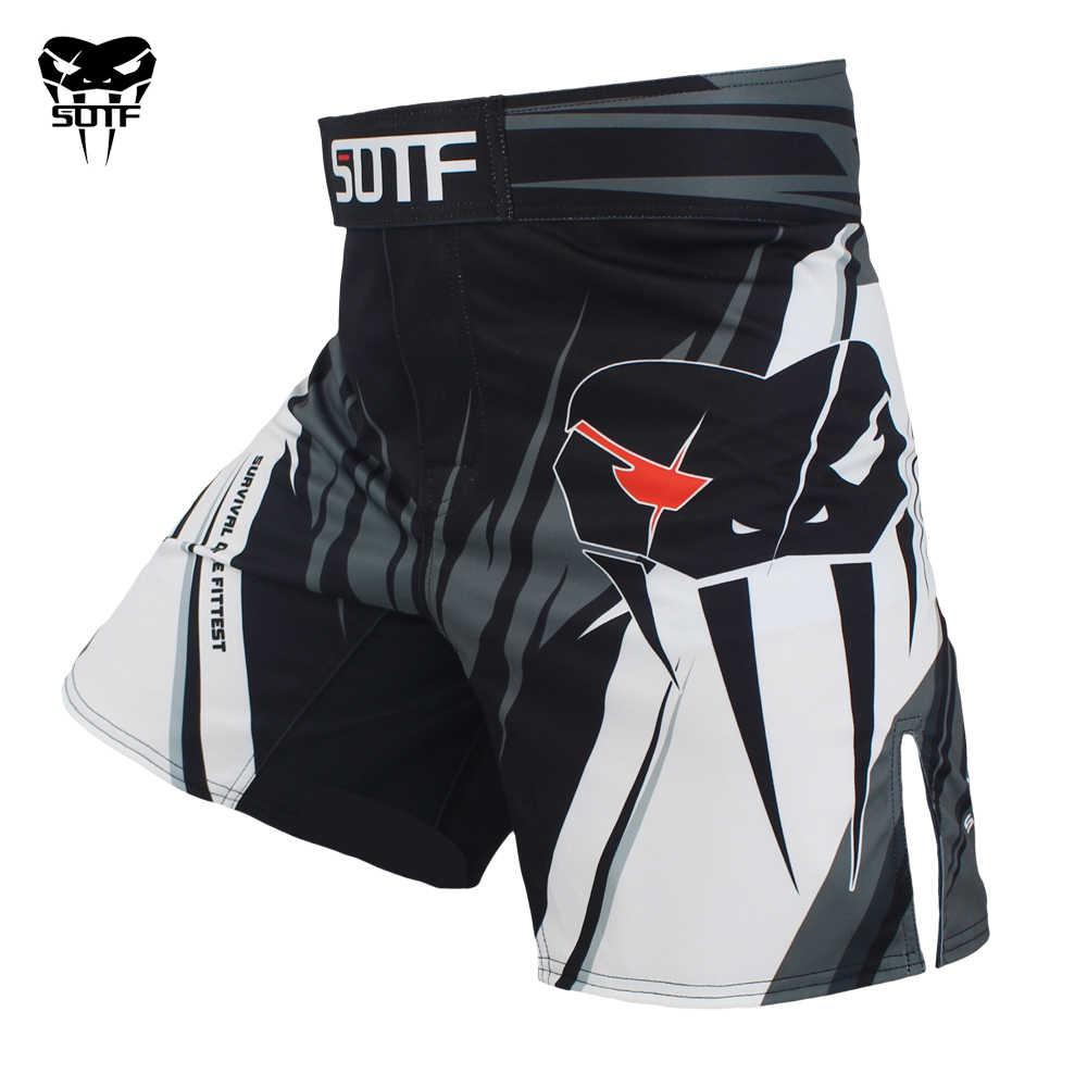 SOTF mma الكبار الأفعى السامة هندسية النمر الملاكمة التايلاندية سراويل ملاكمة mma السراويل الملاكمة الملابس القتال السراويل sanda