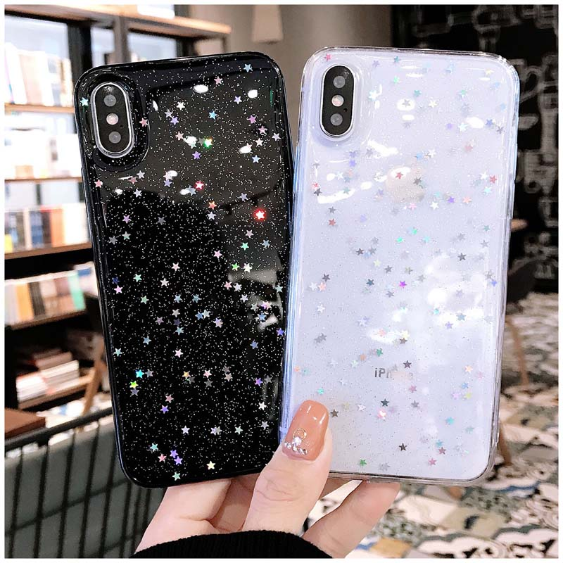HTB1hG15M7PoK1RjSZKbq6x1IXXaX - Lovebay Bling Star Glitter Soft TPU Phone Cases For iphone 11 Pro XS Max XR X 8 7 6 6S Plus 5S SE Powder Transparent Cover