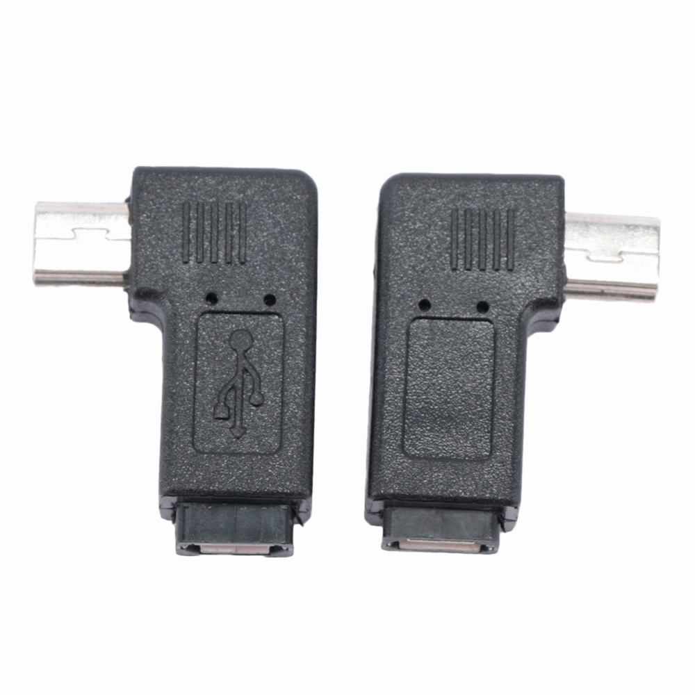 90 Degree Keyboard Mobile Phone Tablet Dedicated OTG Left right Angle Adapter USB Connector Mini 5P Male To Micro Female Convert