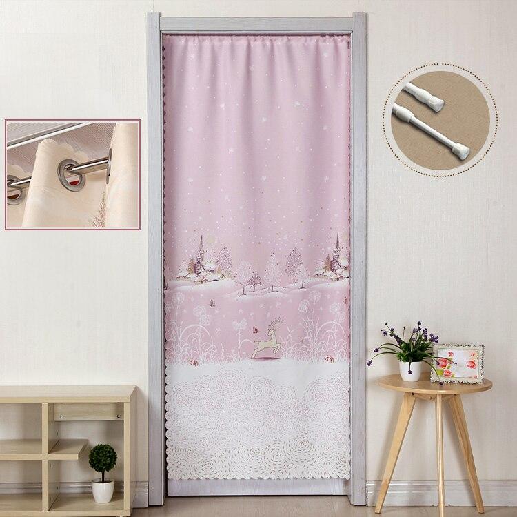 Чистый и свежий искусства ткани спальня украшает гостиная занавес двери Туалет раздела занавес половина тень занавес
