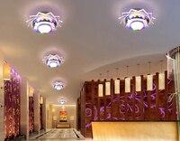 Abajur 3W led luces de techo para sala de estar lámpara de techo de cristal AC200-240V iluminación moderna del hogar luminaria envío gratis